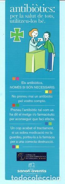 BONITO MARCAPÁGINAS DE EDICION DE SANOFI AVENTIS ANTIBIÓTICS (Coleccionismo - Marcapáginas)