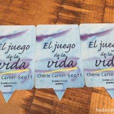 Coleccionismo Marcapáginas: 3 MARCAPAGINAS- JUEGO DE LA VIDA - CHÉRIE CARTER -SCOTT. Lote 189630805