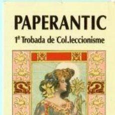 Coleccionismo Marcapáginas: MARCAPÁGINAS DE EDITO PAPERANTIC EL AÑO 2003 BARCELONA . Lote 189643915
