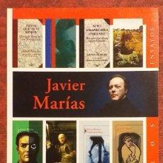 Coleccionismo Marcapáginas: JAVIER MARÍAS. PUNTO DE LIBRO ALFAGUARA. LOS ENAMORAMIENTOS. PLASTICADO. 21.5 X 12 CM. ENORME. Lote 189965456