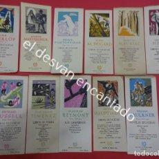 Coleccionismo Marcapáginas: LOTE DE 11 MARCAPÁGINAS DIFERENTES PUBLICIDAD AGUILAR. BIBLIOTECA PREMIOS NOBEL. MUY ANTIGUOS. Lote 191201882