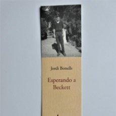 Coleccionismo Marcapáginas: MARCAPAGINAS EDITORIAL FUNANBULISTA ESPERANDO A BECKETT. Lote 191237390