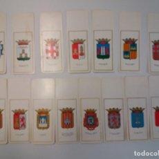 Coleccionismo Marcapáginas: 15 TARJETAS ESCUDOS DE CAPITALES DE ESPAÑA. Lote 191777182