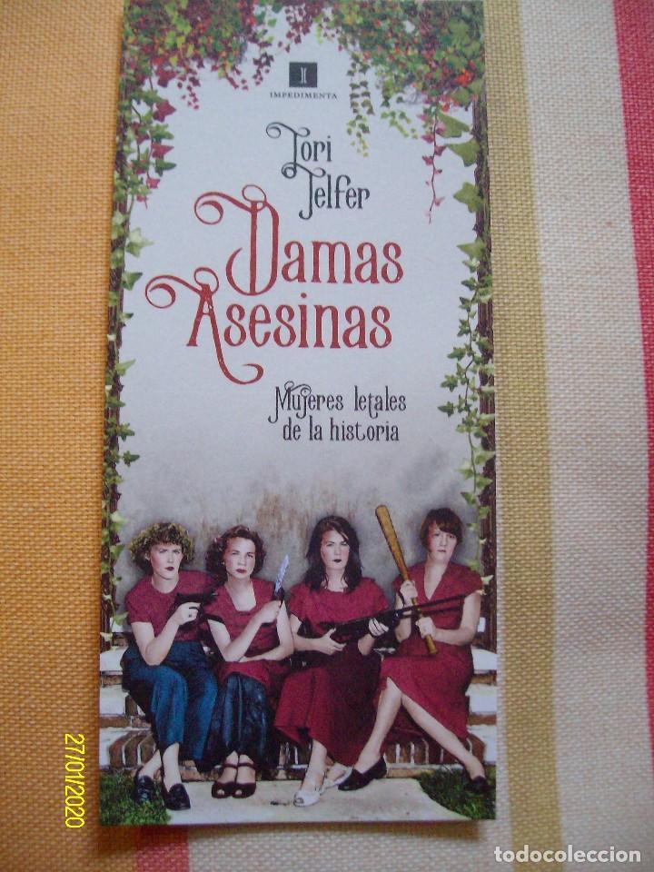 MARCAPAGINAS DAMAS ASESINAS MUJERES LETALES DE LA HISTORIA EDICIONES IMPEDIMENTA (Coleccionismo - Marcapáginas)