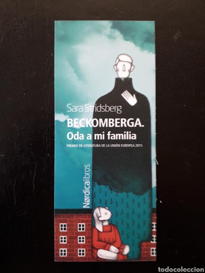 MARCAPAGINAS EDITORIAL NORDICA LIBROS S STRIDSBERG BECKOMBERGA. PEDIDO MÍNIMO 3 EUROS. (Coleccionismo - Marcapáginas)