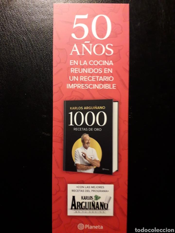 Coleccionismo Marcapáginas: MARCAPAGINAS EDITORIAL PLANETA. K ARGUIÑANO. 1000 RECETAS DE ORO. PEDIDO MÍNIMO 3 EUROS. - Foto 2 - 193665088