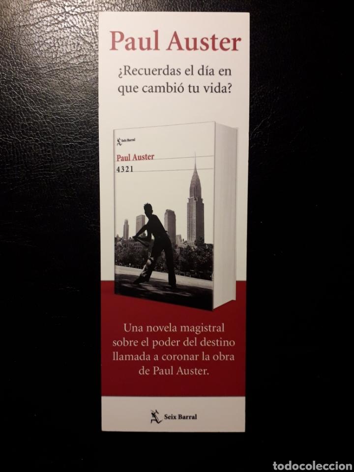 MARCAPAGINAS EDITORIAL SEIX BARRAL. PAUL AUSTER. 4321. PEDIDO MÍNIMO 3 EUROS. (Coleccionismo - Marcapáginas)
