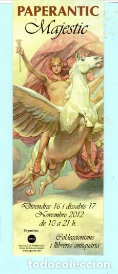 MARCAPÁGINAS DE EDITO DE PAPERANTIC TITULO MAJESTIC EL AÑO 2012 (Coleccionismo - Marcapáginas)