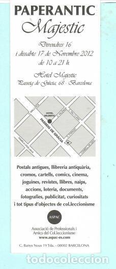Coleccionismo Marcapáginas: MARCAPÁGINAS DE EDITO DE PAPERANTIC TITULO MAJESTIC EL AÑO 2012 - Foto 2 - 194011320