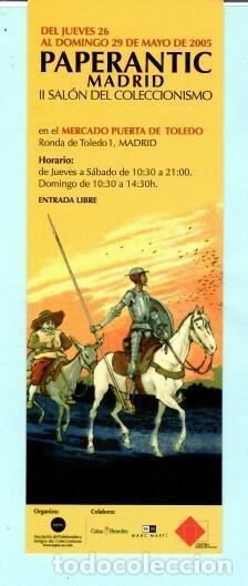 MARCAPÁGINAS DE EDITO DE PAPERANTIC TITULO II MADRID EL AÑO 2005 (Coleccionismo - Marcapáginas)