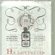 Coleccionismo Marcapáginas: 2043.- PERFUME - AGUA DE COLONIA DOCE-AGUA DE COLONIA MEDICINAL-PUBLICIDAD PUNTO DE LIBRO. Lote 194302840