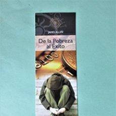 Coleccionismo Marcapáginas: MARCAPAGINAS EDITORIAL SIRIO DE LA POBREZA AL EXITO. Lote 194634248