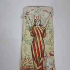 Coleccionismo Marcapáginas: ANTIGUO PUNTO DE LIBRO - MARCAPAGINAS - LA VEU DE CATALUNYA - CIRCA 1900. Lote 194770133