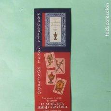 Coleccionismo Marcapáginas: MARCAPAGINAS EDICIONES OBELISCO LA AUTENTICA BARAJA ESPAÑOLA . Lote 194860556