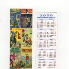 Coleccionismo Marcapáginas: MARCAPÁGINAS - COMICS TRINIDAD - CON CALENDARIO DE 2020. Lote 194916495