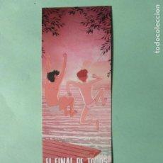 Coleccionismo Marcapáginas: MARCAPAGINAS EDITORIAL LUNWEEG EL FINAL DE TODOS LOS AGOSTOS. Lote 195053493