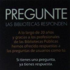 Coleccionismo Marcapáginas: MARCAPÁGINAS BIBLIOTECA .. Lote 195254000