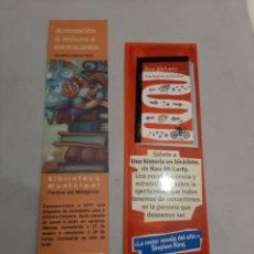 Coleccionismo Marcapáginas: MARCAPAGINAS LUGO 2011 Y ALFAGUARA BICICLETA CORRE AL ENCUENTRO SUEÑOS. Lote 195459382