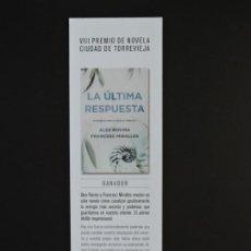 Coleccionismo Marcapáginas: MARCAPÁGINAS - PLAZA & JANÉS - LA ÚLTIMA RESPUESTA - EL COMPOSITOR DE TORMENTAS. Lote 196326256