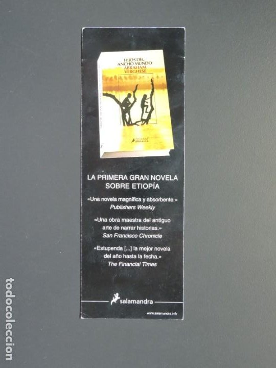 MARCAPÁGINAS - SALAMANDRA - HIJOS DEL ANCHO MUNDO (Coleccionismo - Marcapáginas)