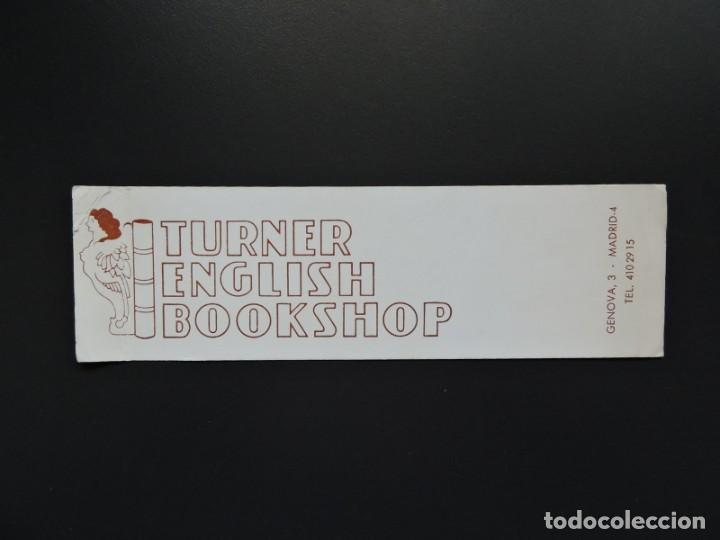 MARCAPÁGINAS - TURNER ENGLISH BOOKSHOP (Coleccionismo - Marcapáginas)