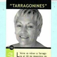 Coleccionismo Marcapáginas: MARCAPÁGINAS EDITOR DE AYUNTAMIENTO DE TARRAGONA ANNA GUASCH PUJOLÁ . Lote 196891386