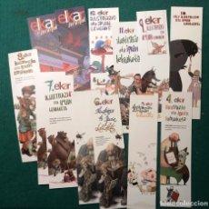 Coleccionismo Marcapáginas: 50 MARCAPÁGINAS DIFERENTES ELKAR. VASCOS. Lote 197581127