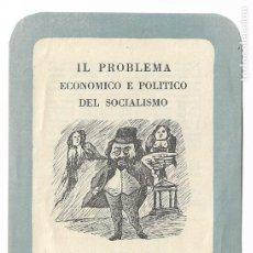 Coleccionismo Marcapáginas: MARCAPÁGINAS - EL PROBLEMA ECONÓMICO Y POLÍTICO DEL SOCIALISMO - SAVERIO MERLINO. Lote 197936743