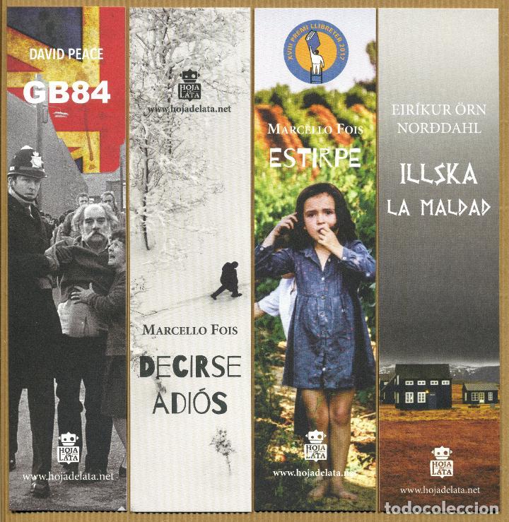 4 MARCAPÁGINAS - HOJA DE LATA (Coleccionismo - Marcapáginas)