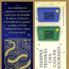 Coleccionismo Marcapáginas: MARCAPÁGINAS – EDITORIAL SALAMANDRA HARRY POTTER. Lote 198652873