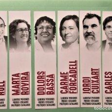 Coleccionismo Marcapáginas: 16 MARCAPAGINAS SERIE COMPLETA LIBERTAD PERSONAS ENCARCELADAS Y EXILIADAS POLITICOS CATALANES 2.019. Lote 199177423