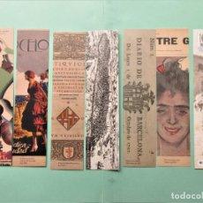 Coleccionismo Marcapáginas: 12 MARCAPAGINAS SERIE COMPLETA 100 ANIVERSARIO ARCHIVO HISTORICO DE BARCELONA . Lote 199177742