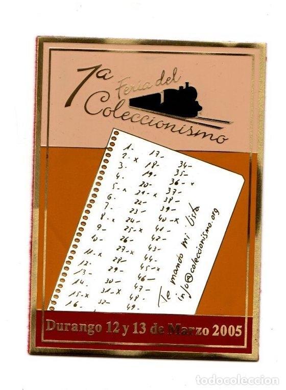 MARCAPAGINAS METALICO I FERIA COLECCIONISMO DURANGO. BIZKAIA. 12 Y 13 MARZO 2005 (Coleccionismo - Marcapáginas)