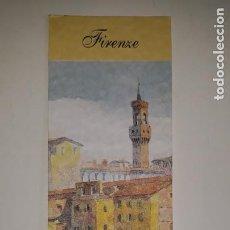 Coleccionismo Marcapáginas: PUBLICIDAD TURISMO FLORENCIA FIRENZE EDICIÓN GRÁFICA GRAFICHE ROMOLI ACUARELA PONTE VECCHIO TORRE PA. Lote 201541222