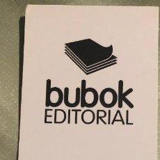 Coleccionismo Marcapáginas: MARCAPÁGINAS O PUNTO DE LIBRO. PUBLICITARIO DE EDITORIAL BUBOK. DISTINTO DIBUJO EN CADA CARA. NUEVO.. Lote 202827140