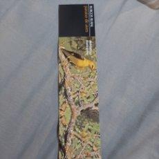 Coleccionismo Marcapáginas: MARCAPAGINAS. BURGOS RURAL. PARAÍSO DE AVES. TRINO. OROPENDOLA. Lote 204683992