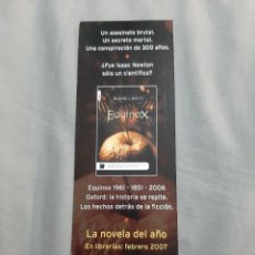 Coleccionismo Marcapáginas: MARCAPAGINAS. ROCA EDITORIAL MISTERIO. EQUINOX. Lote 205134596