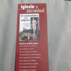 Coleccionismo Marcapáginas: MARCAPAGINAS. BIBLIOTECA DE AUTORES CRISTIANOS. IGLESIA Y SOCIEDAD. EL CRISTIANISMO. CALENDARIO 2007. Lote 205135216