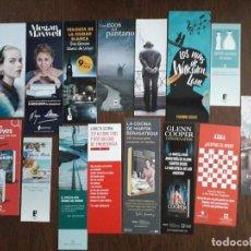 Coleccionismo Marcapáginas: LOTE DE 15 PUNTOS DE LIBRO, MARCAPÁGINAS DE EDITORIALES. Lote 206287080