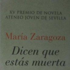 Coleccionismo Marcapáginas: MARCAPÁGINAS EDITORIAL ALGAIDA.DICEN QUE ESTAS MUERTA. XV PREMIO N ATENEO DE SEVILLA-. Lote 206568161