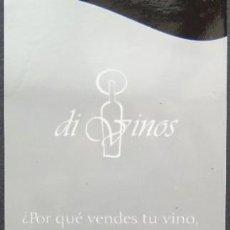 Coleccionismo Marcapáginas: MARCAPÁGINAS DI VINOS. Lote 213288478