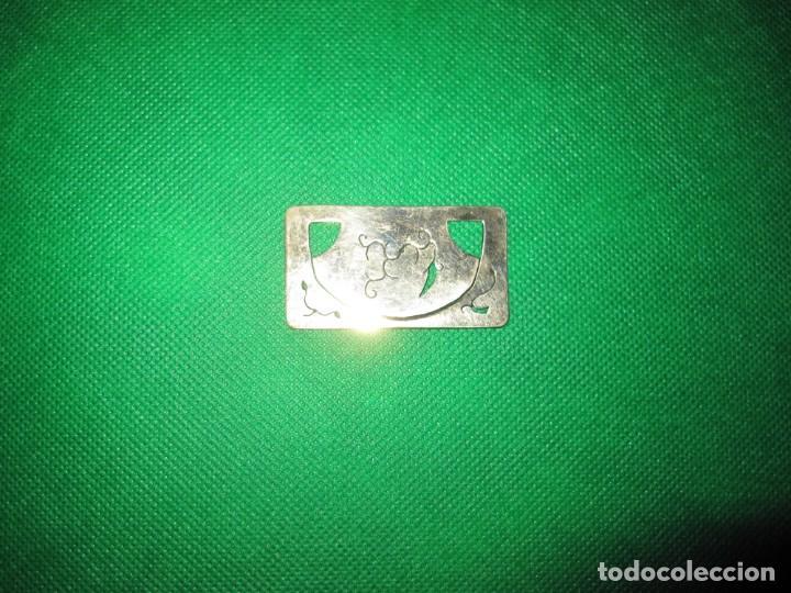 Coleccionismo Marcapáginas: Marca páginas marcapáginas metal plateado - Foto 3 - 214649567