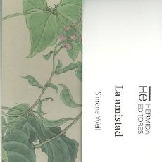 Coleccionismo Marcapáginas: MARCAPAGINAS. HERMIDA EDITORES. SIMONE WEIL. LA AMISTAD. Lote 218257835