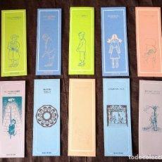 Coleccionismo Marcapáginas: 10 MARCAPÁGINAS, PUNTO DE LECTURA, JAPONESES ORIGINALES DE JAPÓN. JAPAN BOOKMARK. Lote 221507710