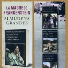 Coleccionismo Marcapáginas: MARCAPÁGINAS LA MADRE DE FRANKESTEIN ALMUDENA GRANDE - TUSQUETS. Lote 221589368