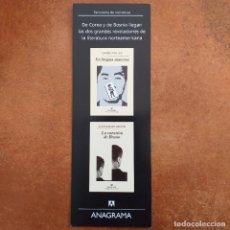 Coleccionismo Marcapáginas: MARCAPAGINAS EN LENGUA MATERNA CHANG-RAE LEE Y LA CUESTION DE BRUNO ALEKSANDAR HEMON. ANAGRAMA. RARO. Lote 222121823