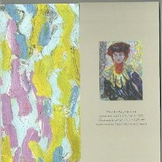Coleccionismo Marcapáginas: MARCAPÁGINAS. MUSEO THYSSEN. ERNST LUDWIG KIRCHNER. DORIS CON CUELLO ALTO. Lote 222617541
