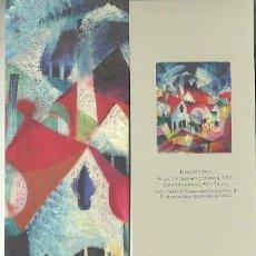 Coleccionismo Marcapáginas: MARCAPÁGINAS. MUSEO THYSSEN. JOHANNES ITTEN. GRUPO DE CASAS EN PRIMAVERA. Lote 222617552