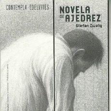 Coleccionismo Marcapáginas: MARCAPÁGINAS. FORMA PUZZLE CON REVERSO. EDELVIVES. STEFAN ZWEIG. NOVELA DE AJEDREZ. Lote 222617561