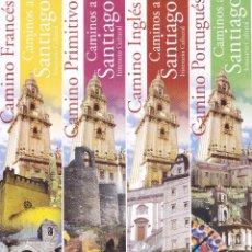 Colecionismo Marcadores de página: 8 MARCAPAGINAS: CAMINO DE SANTIAGO - XACOBEO GALICIA - SERIE COMPLETA. Lote 223140260
